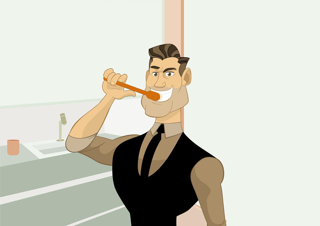 איש מצחצח שיניים