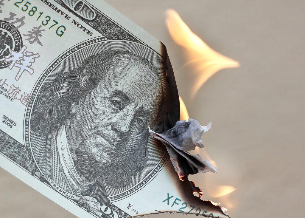 כסף נדלק ונשרף