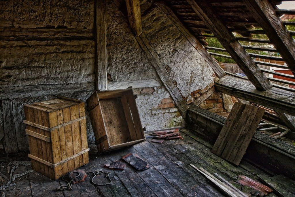 גג של בית ישן